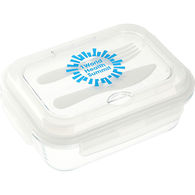 *NEW* Glass Food Storage Container with Utensils