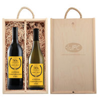 *NEW* Custom-Label Wines in Engraved Wooden Box