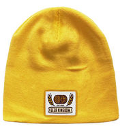 *NEW* Beanie with Woven Logo Patch - 23 Colors Available! - Optional Cuff and Pom Pom Can Be Added