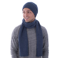 *NEW* Deluxe Textured Knit Beanie and Scarf Set