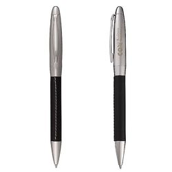 Faux Leather-Wrapped Twist Pen