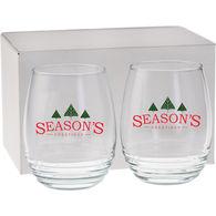 *NEW* Set of 2 Stemless Wine Glasses