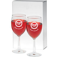 *NEW* Set of 2 Wine Glasses with Hexagonal Stem