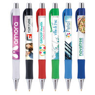 *NEW* Grip Pen with Full Color Imprint and Antimicrobial Additive