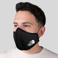 2-Ply Cotton Face Mask with Poly/Spandex Lining, Nose Wire, Adjustable Ear Loops, CENTER SEAM with 1-Color Imprint on Cheek