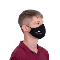 2-Ply Cotton Face Mask with Poly/Spandex Lining, Nose Wire, Adjustable Ear Loops, and 1-Color Imprint on Cheek