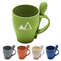 *NEW* Renewable And Sustainable Wheat Straw Plastic 12 oz Spooner Mug