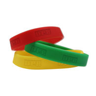 *NEW* 3-Piece Social Distancing Red-Yellow-Green Silicone Wristbands