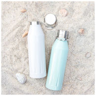 *NEW* 20.9 oz Vacuum Insulated Bottle with Molded-Pattern and Carry Handle Lid