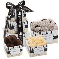 *NEW* A Toast to You Tower with Champagne Flavored and Dark Chocolate Treats (Non-Alcoholic)