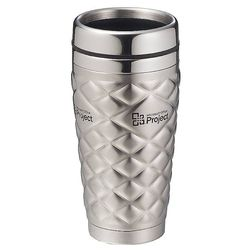 14 oz. Stainless Steel Diamond Tumbler with Stainless Steel Liner
