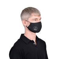 2-Ply Athleisure Poly Face Mask with Nose Wire, Adjustable Ear Loops, Center Seam with 1-Color Imprint on Cheek