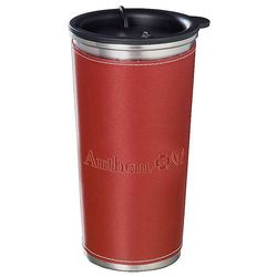 15 oz. Tumbler with Leather-Like Sleeve and Stainless Steel Liner