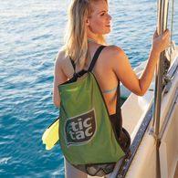 *NEW* Handy Wet/Dry Backpack for Beach or Pool Features a Mesh Shell for Wet Items and a Poly Interior for Dry Items