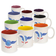 *NEW* 11 oz Coffee Mug with Color Interior and Full-Color Wraparound Imprint (No Bleed)- Low Minimums