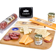 *NEW* Charcuterie Favorites Board Includes Dry-Cured Salami, Assorted Cheeses, Crackers, and Gourmet Mustard