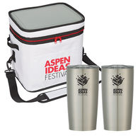 *NEW* High-Performance Cooler Bag with (2) 20 oz Hot/Cold Stainless Steel Vacuum Insulated Travel Tumblers