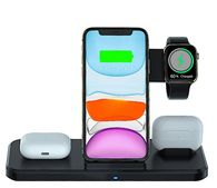 *NEW* 4-In-1 Qi Wireless Charging Station - Charge 2 Phones, Apple Watch and Apple Airpods Simultaneously!