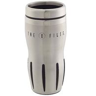 14 oz. Stainless Steel and Rubber Stripe Grip Tumbler with Stainless Steel Liner