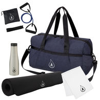 *NEW* Zen in a Duffel Bag Includes Single-Layer, High-Traction Yoga Mat, Yoga Stretch Band, Cooling Towel & 20 Oz. Stainless Steel Bottle