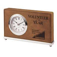 *NEW* Leatherette Rectangle Clock - Low Minimum Order!
