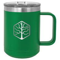 *NEW* 15 Oz. Stainless Steel Double-Wall Vacuum-Insulated Mug - Low Minimum Order!