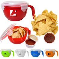 *NEW* Clip-Top Soup Bowl with Handle with Tortilla Chips and Salsa