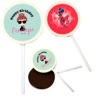 *NEW* Chocolate Lollipops with Your Full-Color Logo Printed Directly on Pop