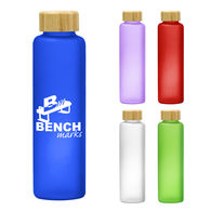 *NEW* 20 oz Colorful Glass Bottle with Bamboo Lid
