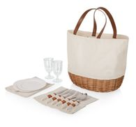 *NEW* Picnic Basket Set Includes Service for Two Including Plates, Glasses and Flatware