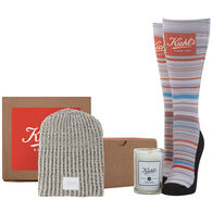 *NEW* Snowed In Gift Set Includes Soft-Knitted Beanie, Premium Socks and Glass Candle in a Cardboard Gift Box