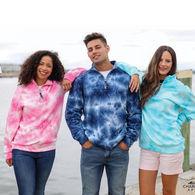 *NEW* Charles River® Adult Crosswind Quarter-Zip Tie Dye Sweatshirt