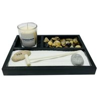 *NEW* Zen Garden with Vanilla-Scented Candle, Sand, Rake and Zen-Etched Rocks