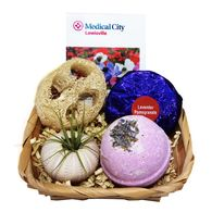 *NEW* Lavender Spa Basket with Air Plant Includes Bath Bomb, Shower Streamer, Loofah, Air Plant, and Logo'd Card.