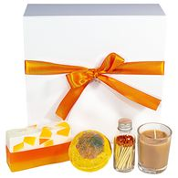 *NEW* Pumpkin Spice Spa Gift Box Includes Glycerine Soap, Bath Bomb, Scented Candle, and Matches