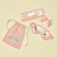 *NEW* Pamper Me Kit with Head Wrap, Eye Mask, Scrunchie, and Message Card in Canvas Bag