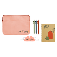 *NEW* Work & Go Kit with Notebook, Tech Taco, Pens and Message Card in Canvas Laptop Sleeve