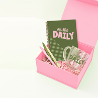 *NEW* On the Daily Kit with Notebook, Glass Mug, Pens and Message Card in Gift Box