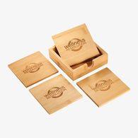 *NEW* 5-Piece Bamboo Coaster Set