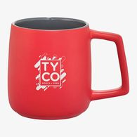 *NEW* 14 oz Ceramic Mug with Smooth Matte Outside and Glossy Grey Inside