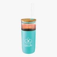 *NEW* 20 oz Glass Tumbler with Soft Grip Sleeve and Bamboo Lid