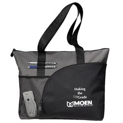"14"" x 18"" Zippered Polycanvas Sport Utility Tote"