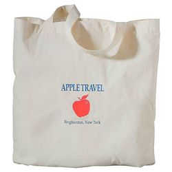 "15"" x 15"" Classic Cotton Meeting Tote (Natural)"