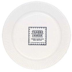 "White Paper Plate, 7"" Round"