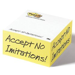 "Post-it&reg Notes Half Cube - 4"" x 4"" x 2"""