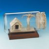Palm Tree & Hut Business Card Sculpture in a Bottle Award
