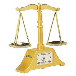 Die Cast Scale of Justice Clock