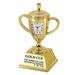Die Cast Trophy Cup Clock