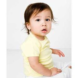American Apparel&reg Organic Infant Baby Rib Short Sleeve Lap T