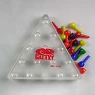 Peg Puzzle with Jumping Pegs